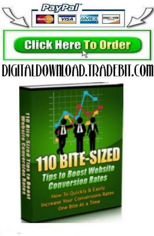 Pay for 100 Bite Size Conversion Tips To Boost Web Conversion Rate