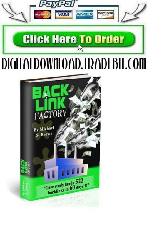Pay for Backlink Factory