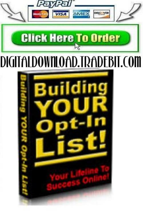 Pay for Building Your Own Opt In List