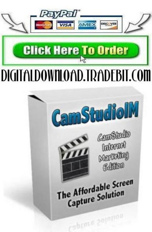 Pay for CamStudio For Internet Marketers!
