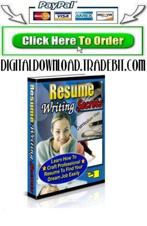 Pay for Resume Writing Secrets