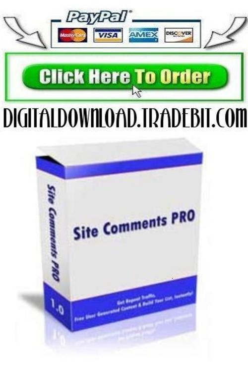 Pay for Site Comments Pro