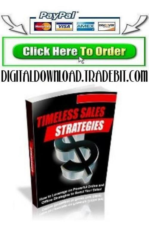 Pay for Timeless Sales Strategies