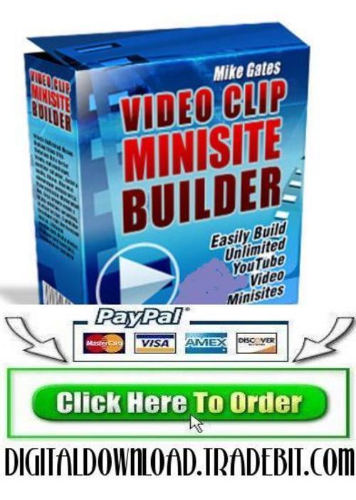 Pay for Video Clip Websites Builder Script