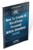 Thumbnail How To Create A WordPress Powered Article Directory