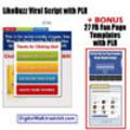 Thumbnail LikeBuzz Viral Script PLR + BONUS PLR