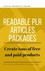 Thumbnail Readable PLR Articles Packages Private Label Rights Articles