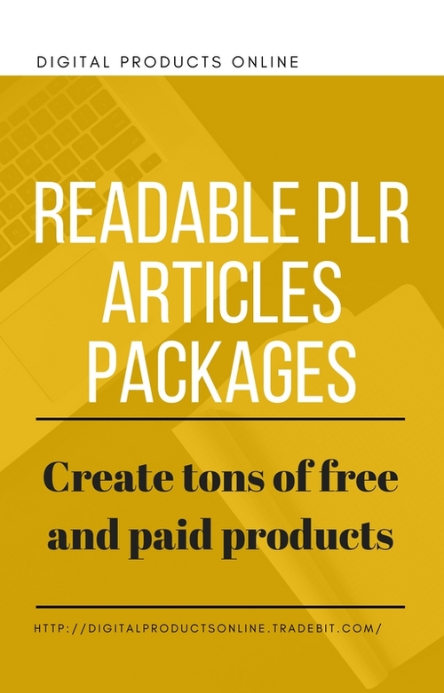 Pay for Readable PLR Articles Packages Private Label Rights Articles