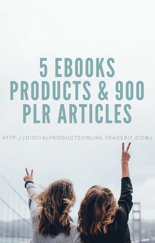 Pay for 5 Ebooks Products & 900 PLR Articles