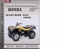 Honda Rancher 350 2006 Service Repair Manual Download