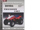Thumbnail Honda Trx200sx 1987 Service Repair Manual Download