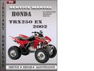 Thumbnail Honda TRX250 EX 2002 Service Repair Manual Download