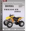 Thumbnail Honda TRX250 EX 2003 Service Repair Manual Download