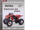 Thumbnail Honda TRX250 EX 2006 Service Repair Manual Download