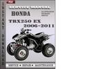 Thumbnail Honda TRX250 EX 2006-2011 Service Repair Manual Download