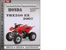 Thumbnail Honda TRX250 EX 2007 Service Repair Manual Download