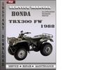 Thumbnail Honda TRX300 FW 1988 Service Repair Manual Download
