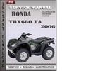 Thumbnail Honda TRX680 FA 2006 Service Repair Manual Download