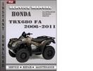 Thumbnail Honda TRX680 FA 2006-2011 Service Repair Manual Download
