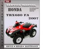 Thumbnail Honda TRX680 FA 2007 Service Repair Manual Download