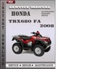 Thumbnail Honda TRX680 FA 2008 Service Repair Manual Download