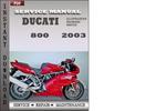 Thumbnail Ducati 800 2003 Service Repair Manual Download