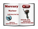 Thumbnail Mercury Mariner Outboard 6 8 9.9 10 15 HP 2-stroke Service Repair Manual Download