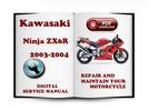 Thumbnail Kawasaki Ninja ZX6R 2003-2004 Service Repair Manual Download