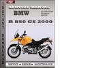 Thumbnail BMW R 850 GS 2000 Service Repair Manual Download