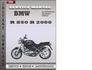 Thumbnail BMW R 850 R 2000 Service Repair Manual Download