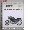 Thumbnail BMW R 850 R 2001 Service Repair Manual Download