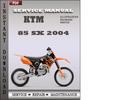Thumbnail KTM 85 SX 2004 Service Repair Manual Download