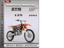 Thumbnail KTM 125 2003 Service Repair Manual Download