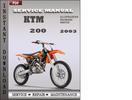 Thumbnail KTM 200 2003 Service Repair Manual Download