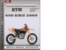 Thumbnail KTM 450 EXC 2009 Service Repair Manual Download