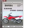 Thumbnail Honda XR80R 1998-2003 Service Repair Manual Download