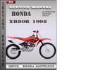 Thumbnail Honda XR80R 1998 Service Repair Manual Download