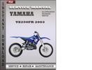 Thumbnail Yamaha YZ250FR 2003 Service Repair Manual Download