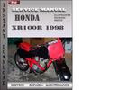 Thumbnail Honda XR100R 1998 Service Repair Manual Download