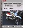 Thumbnail Honda XR100R 1998-2003 Service Repair Manual Download