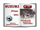 Thumbnail Suzuki SV650 2001 Service Repair Manual Download