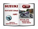 Thumbnail Suzuki Savage LS650 1987 Service Repair Manual Download