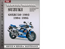 Thumbnail Suzuki GSX-R750 1994 Service Repair Manual Download