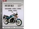 Thumbnail Suzuki GS500E 1997 Service Repair Manual Download