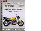 Thumbnail Suzuki GS500E 1992 Service Repair Manual Download