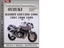 Thumbnail Suzuki Bandit GSF1200 1999 Service Repair Manual Download