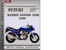 Thumbnail Suzuki Bandit GSF600 1998 Service Repair Manual Download