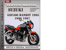 Thumbnail Suzuki Bandit GSF400 1997 Service Repair Manual Download