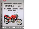 Thumbnail Suzuki Bandit GSF400 1995 Service Repair Manual Download
