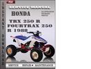 Thumbnail Honda TRX 250 R Fourtrax 250 R 1988 Service Repair Manual Download